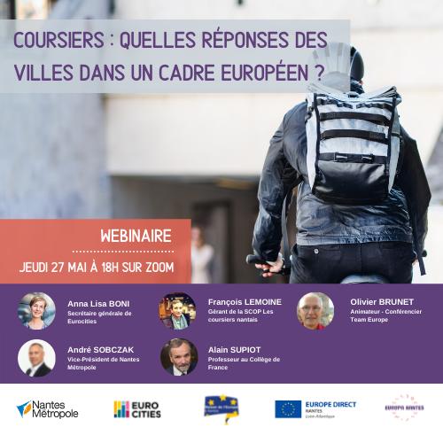 Webinaire : Coursiers : quelles réponses des villes dans un cadre européen ?