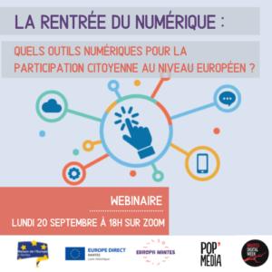 La rentrée du Numérique : Quels outils numériques pour la participation citoyenne au niveau européen ?