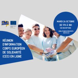 Réunion d'information Corps Européen de Solidarité via Zoom - 26/10